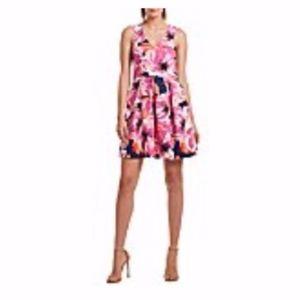 Trina Trina Turk Floral Print Fit & Flare Dress